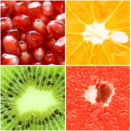 grapefruit: Various fruit close-up