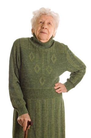old woman isolated on white background photo
