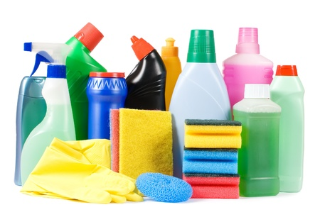 Assortment of means for cleaning isolated photo
