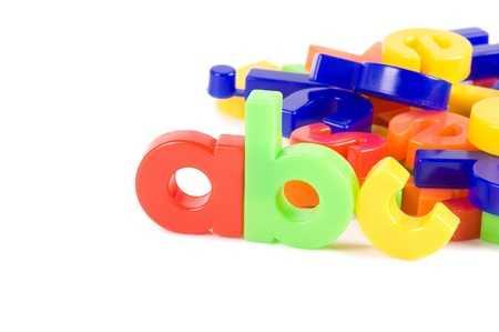 Plastic English letters isolated on white background Stock Photo - 9035973