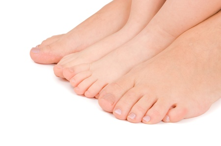 Mother and daughter feet together Stock Photo - 9035974