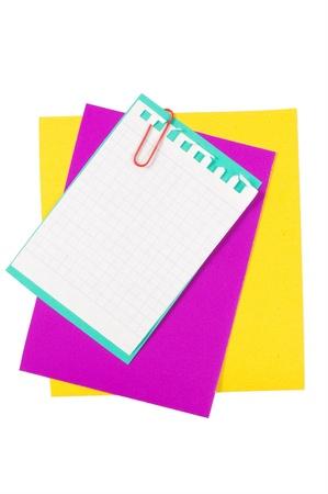 Colour paper with a paper clip photo
