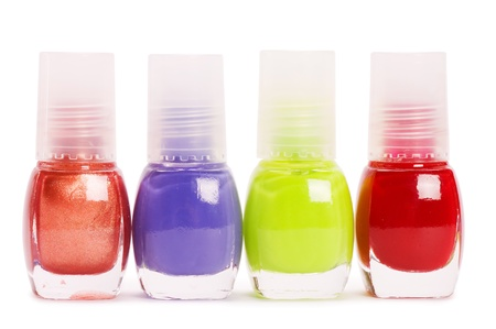 Nail polish isolated on a white background photo
