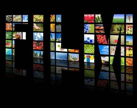 TV panels. Television production technology concept photo