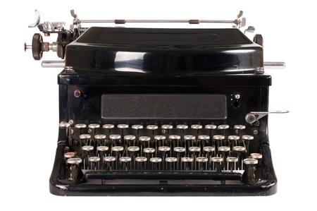 Old typewriter isolated on white background Stock Photo - 9318308