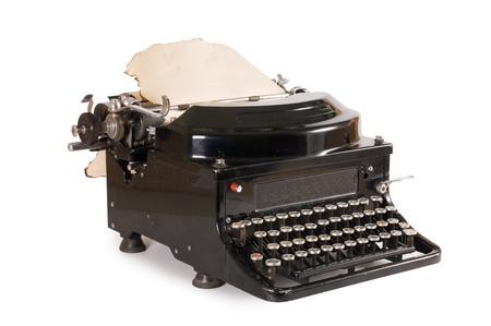 Old typewriter isolated on white background Stock Photo - 9318289