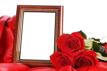 Red rose with a framework for a photo Stock Photo - 9318324