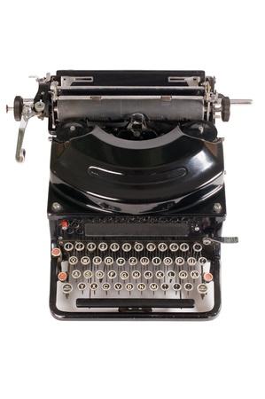 Old typewriter isolated on white background Stock Photo - 9365877