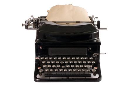 Old typewriter isolated on white background Stock Photo - 9362810