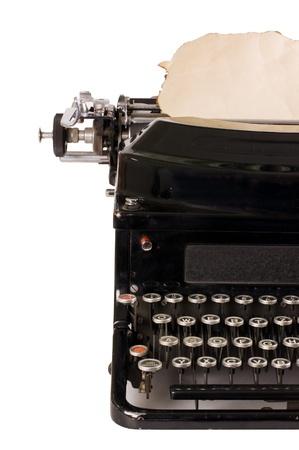 Old typewriter isolated on white background Stock Photo - 9362840