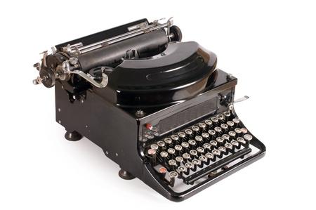 Old typewriter isolated on white background Stock Photo - 9412810