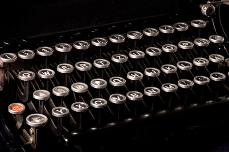 Old typewriter, deadline text Stock Photo - 9412832