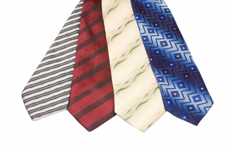Set of Luxury ties on white Stock Photo - 9412878