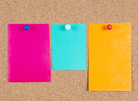 collection of note papers on corkboard Stock Photo - 9412924