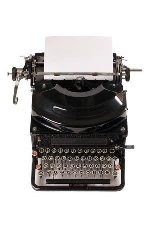 Old typewriter isolated on white background Stock Photo - 9457306