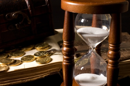 The hourglass and the book photo