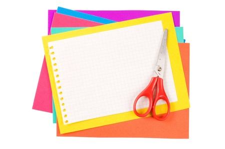 collate: Colour paper with a paper clip
