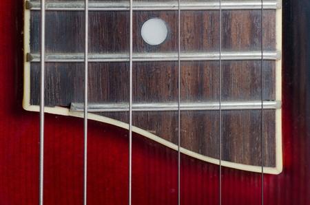 Close-up guitar details as a background photo