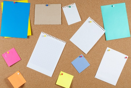 collection of note papers on corkboard Stock Photo - 9545576