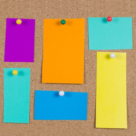 collection of note papers on corkboard Stock Photo - 9545572