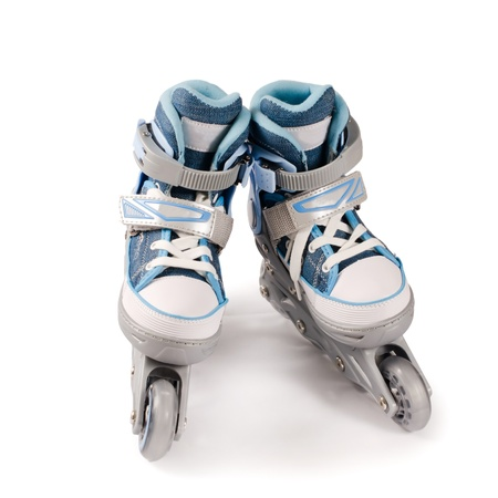 roller skates: Childrens new rollers isolated