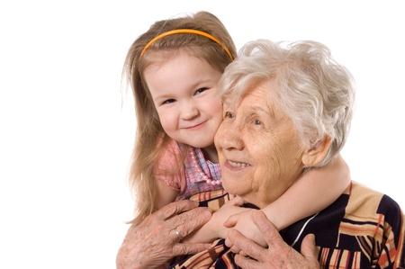 La femme âgée avec grande fille