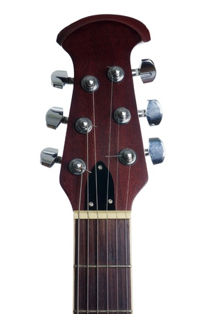 guitar tuner: An acoustic guitars headstock