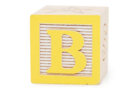 wood block: Cubes with letters isolated on white