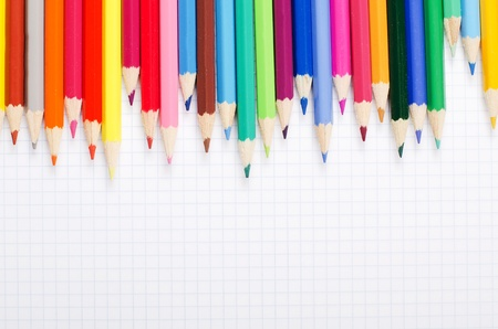 craft supplies: A number of colour pencils