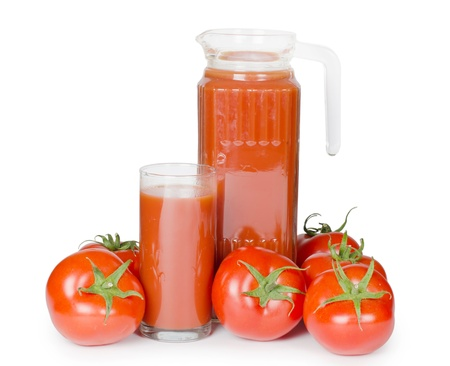 Tomato juice  isolated on white background Stock Photo - 9773919