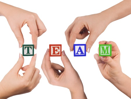 Hands and word Team Stock Photo - 9773927