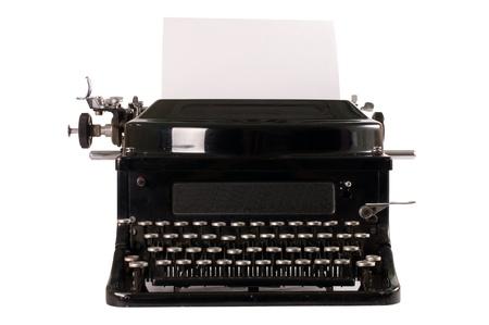 Old typewriter isolated on white background Stock Photo - 9773896