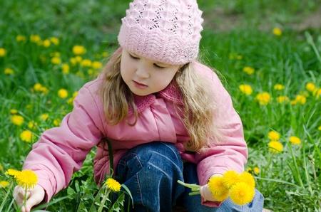 Portrait of the little girl photo