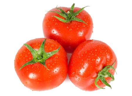 The red tomato isolated on white background Stock Photo - 9921873