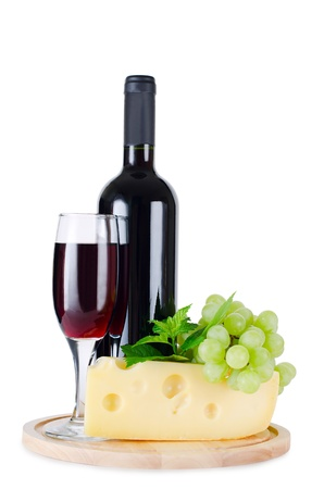 wines: Red wine glass isolated on white background
