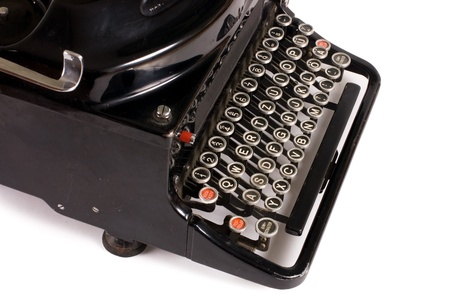 Old typewriter isolated on a white background Stock Photo - 9921695