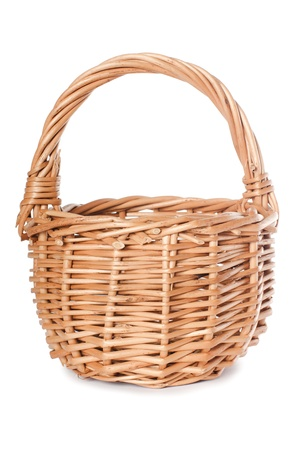 The wattled basket isolated on white background photo