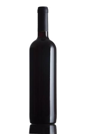 taster: Red wine bottle  isolated on white background Stock Photo