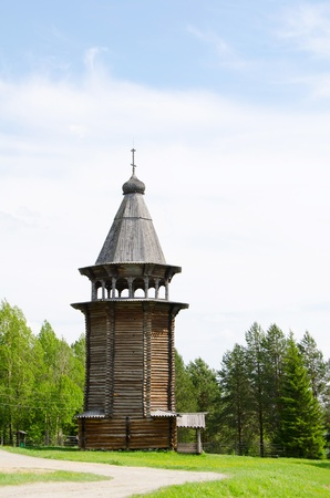 transfiguration: Wooden churches in the north Russia. Arkhangelsk