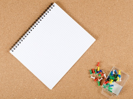 The collection of note papers on corkboard photo