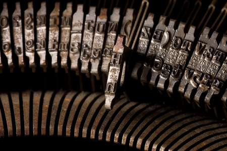 Old text typing typewriter letter typebar. Background Stock Photo - 10036355