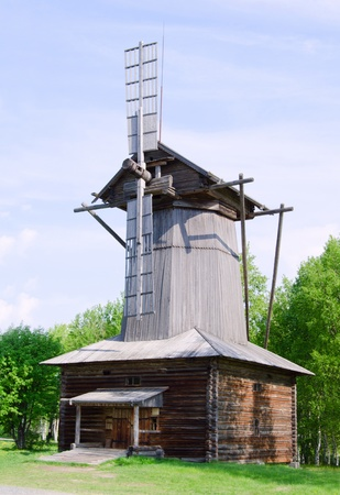 flour mill: Old mill in the north Russia. Arkhangelsk Stock Photo