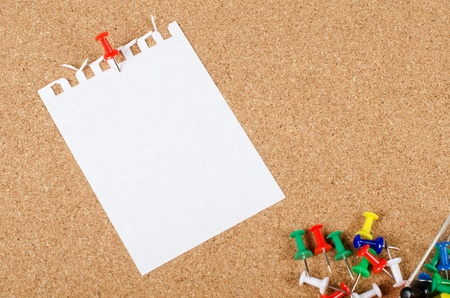 corkboard: The collection of note papers on corkboard