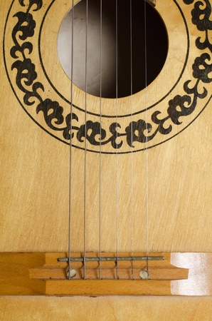 Close-up old acoustic guitar as a background Stock Photo - 10128778