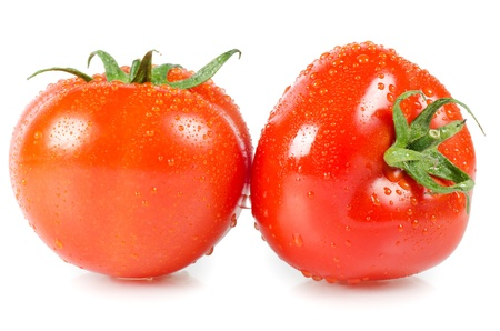 comestible: The red tomato isolated on white background