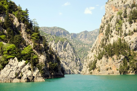natural formation: beautiful view mounttain Green Canyon in Turkey