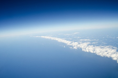 View above the earth at the clouds below Stock Photo - 10574983