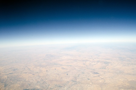 High altitude view of the Earth  photo