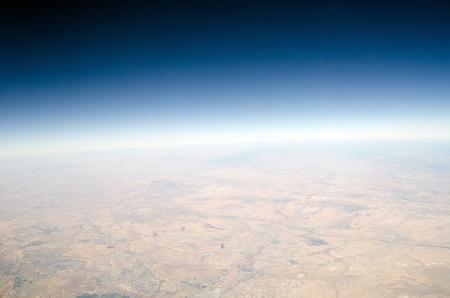 plan éloigné: Vue haute altitude de la Terre Banque d'images