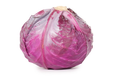 red cabbage: The red cabbage isolated on white background